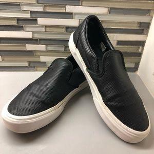 Black Asher Perforated Slip-On Sneaker Women's 8.5
